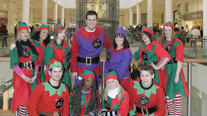 Christmas Staff in Shopping Mall
