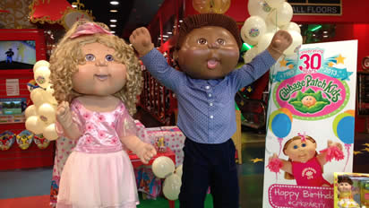 Costume Characters at a Toy Shop